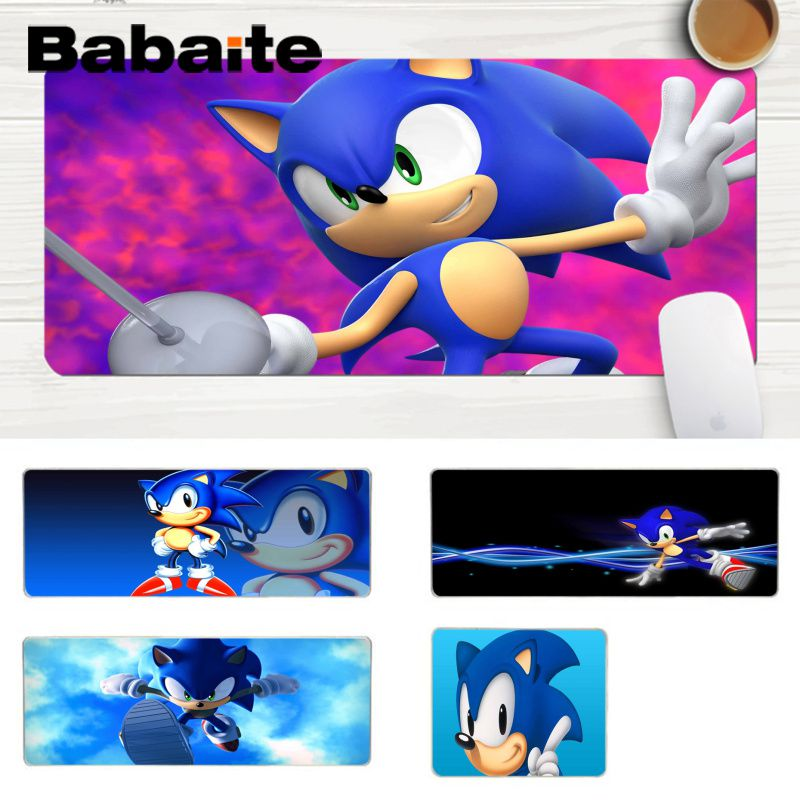 Babaite Sonic The Hedgehog High Speed New Mousepad Comfort Mouse Mat Gaming Lockedge Mousepad Gaming Mouse Pad