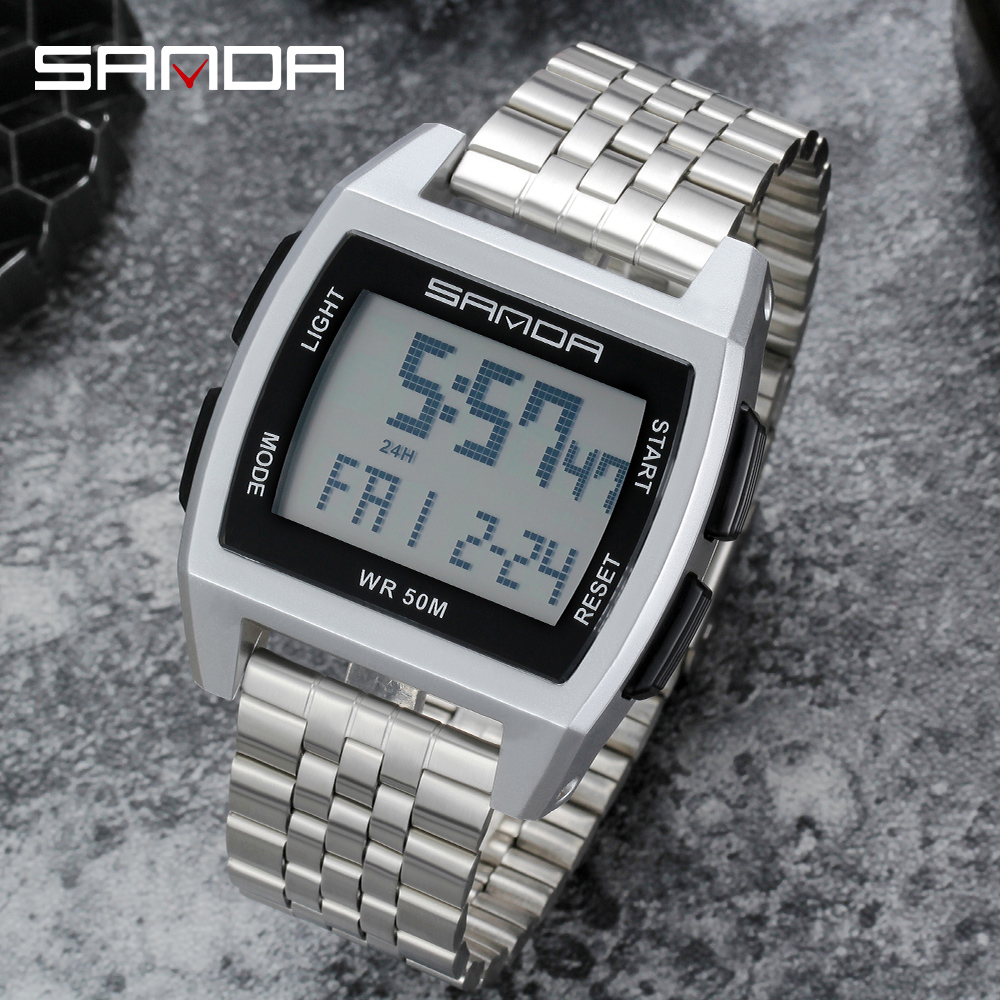 Купить sanda военные спортивные часы электронные мужские лидирующий