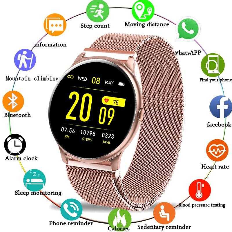 LIGE 2020, nuevo reloj inteligente con pantalla a Color, para mujer y hombre, multifuncional, para ritmo cardíaco, presión arterial IP67, resistente al agua, reloj inteligente + caja