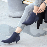Fashion brand boots children shoes low heel pointed stiletto heels autumn and winter sexy and ankle boots size 35 40