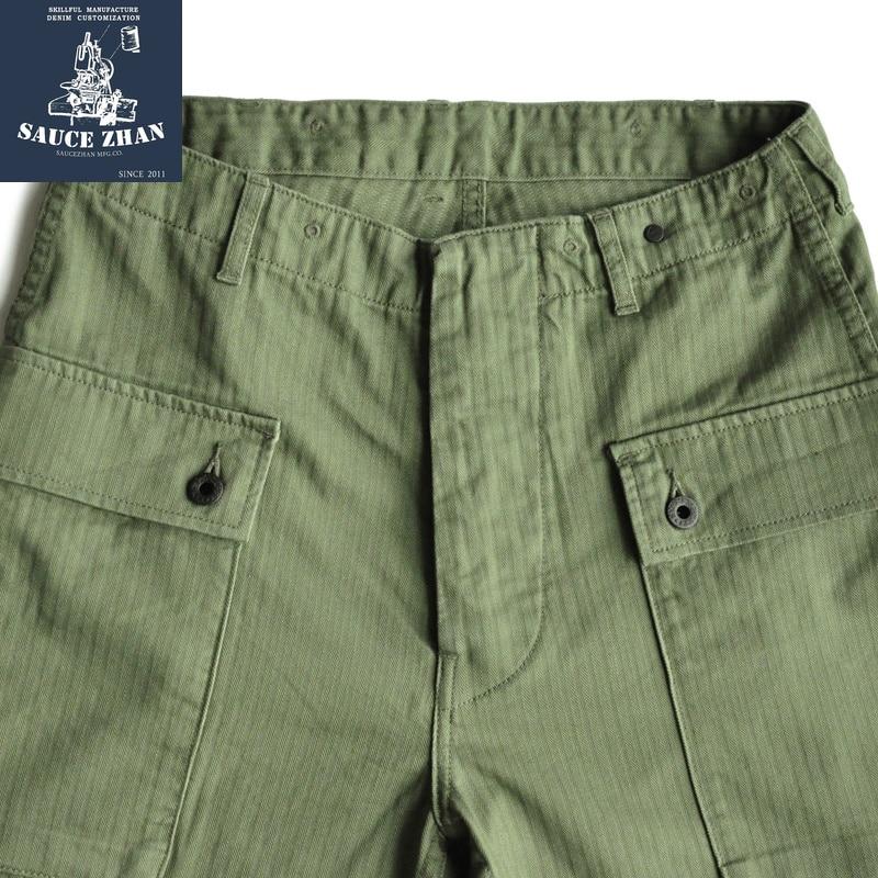 Erkek Kıyafeti'ten Şortlar'de SauceZhan USMC P44 abd ordusu HBT şort VINTAGE rahat şort amerikan Retro askeri şort tulum erkek şort Baker pantol'da  Grup 2