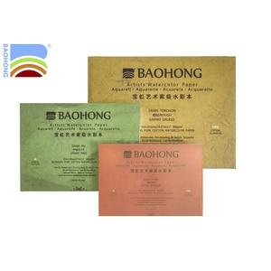 Image 3 - Baohong 아티스트 수채화 용지 300g/m2 전문 면화 전송 물 컬러 휴대용 여행 스케치북 드로잉 아트 용품