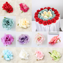 20PCS 10CM Silk Rose Flower Heads Artificial Flowers Fake for Wedding Party DIY Decorations Home Decor