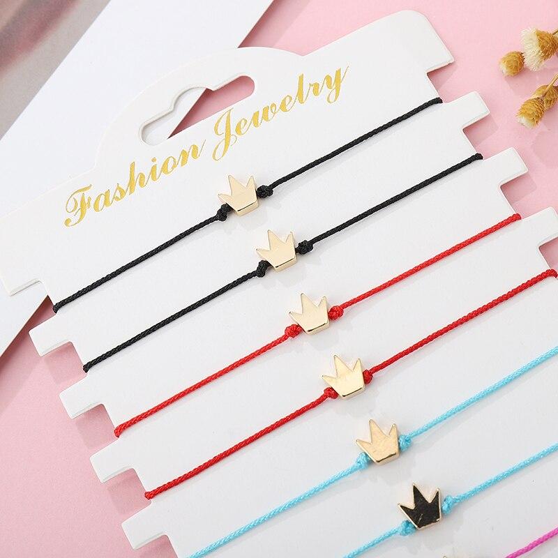 12pcs Adjustable Rope Red String Bracelet For Women Men Kids Lucky Family Friendship Braided Bracelet DIY Matching Couple Gift