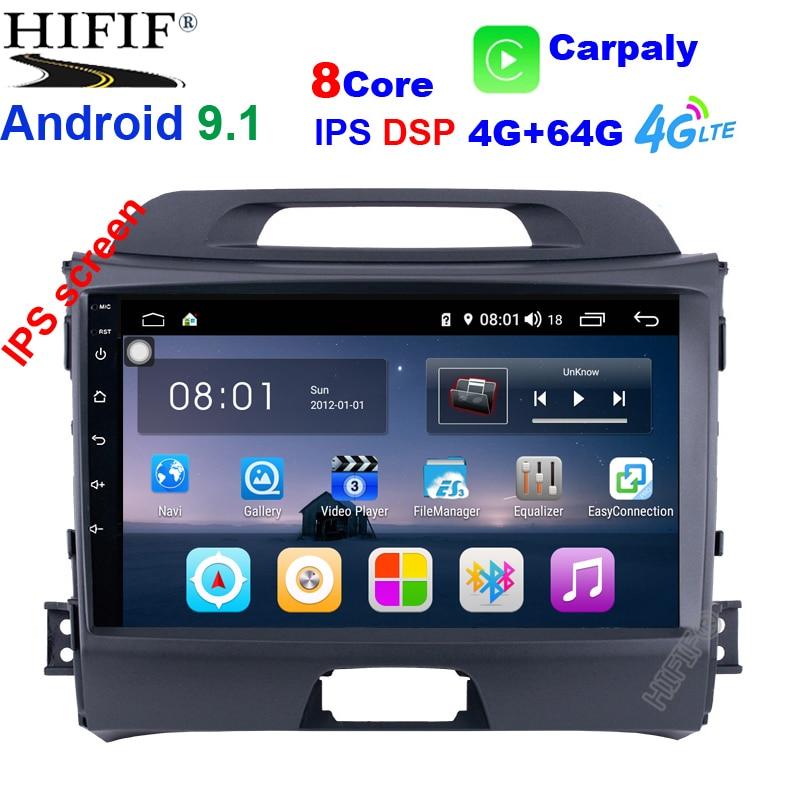 4G + 64G Android 9,1 DSP автомобильный Радио Мультимедиа Видео плеер навигация gps 2 din для KIA Sportage 3 4 2010-2015 без dvd