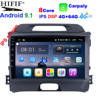4G+64G Android 9.1 DSP Car Radio Multimedia Video Player Navigation GPS 2 din For KIA Sportage 3 4 2010 2015 no dvd