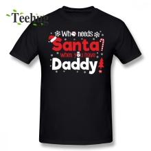 Great Daddy Santa Christmas T Shirt Boy Funny Streetwear Letter Print For Fathers Day Gift T-shirt
