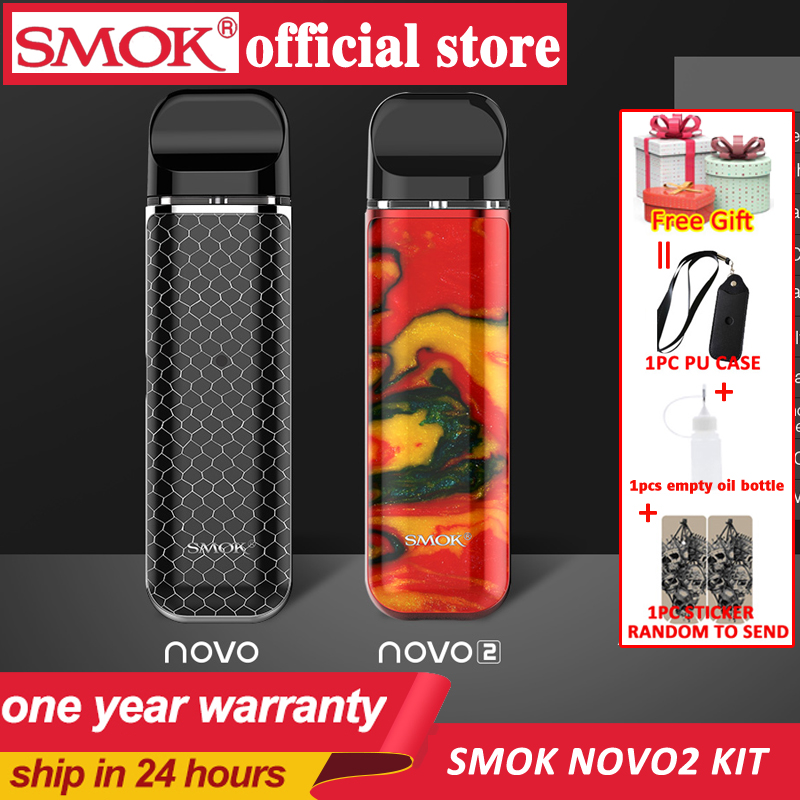 SMOK Pod Starter Kit SMOK Novo Novo2 Kit Cobra Covered Vape Pen Kit With 450mAh Built-in Battery 2ml Capacity Pod System Kit