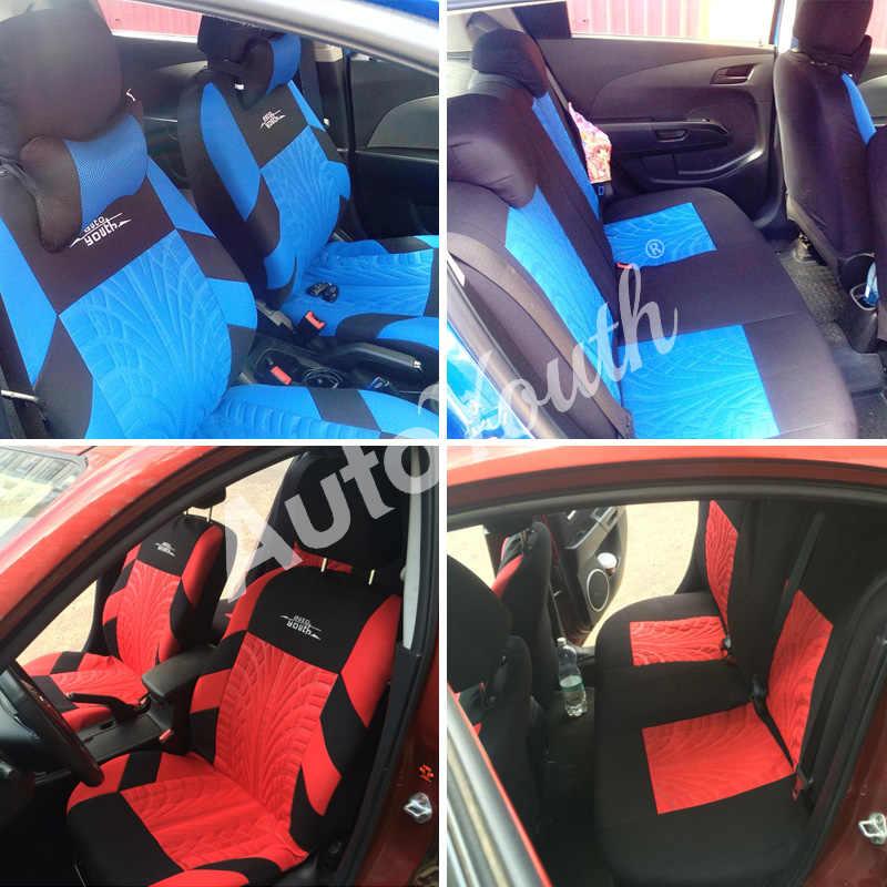 Чехлы На Сиденья Автомобиля универсальные Цвет Синий Красный Серый AUTOYOUTH Чехол на сиденье чехлы на авто,чехлы на сиденья автомобиля накидки на сидения авто, чехлы автомобильные