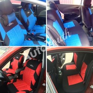 Image 5 - AUTOYOUTH Embroideryรถที่นั่งครอบคลุมชุดUniversal Fitรถยนต์ส่วนใหญ่ครอบคลุมยางTrackรายละเอียดStyling Car Seat Protector