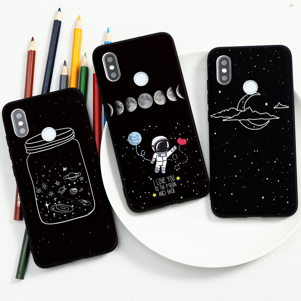 Space Astronaut Phone Case For Xiaomi Redmi Note 9 9S 8 8T Pro Max Planet Star TPU Case For Redmi K30 K20 Note 7 5 6 Pro 7A 8A