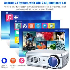 Image 5 - ที่มีประสิทธิภาพโปรเจคเตอร์Full HD 1080P LED proyector 3D Video Beamer HDMI 4Kสมาร์ทAndroid 7.1(2G + 16G) wireless WiFi Home Cinema