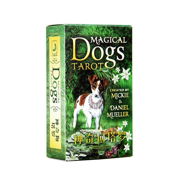 New Magical Dog Tarot Board Game High Quality Paper Cards Chinese/English Edition For Astrologer