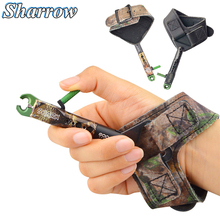 1pcs Archery Wrist Release Aids Trigger Caliper Straps Adjustable Compound Bow Shoot For Accessories
