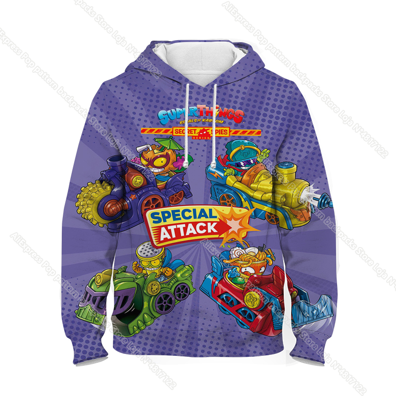New Super Zings Series 6 Hoodies for Teens Girls Autumn Winter Kids 3D Cartoon Pullover Children Superzings Sweatshirt Boys Tops 27