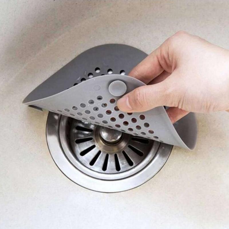 1PC Shower Drain Silicone Kichen Sink Drain Hair Stopper Catcher Filter Bathroom Kitchen Accessories Bathtub Strainer