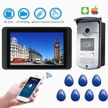 Ip wi fi sistema de vídeo porteiro campainha vídeo inteligente sem fio 7