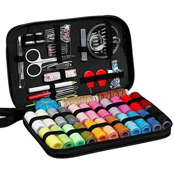 Kits de costura DIY, juego de caja de costura multifunción para acolchar a mano, costura, hilo de bordar, accesorios de costura, conjunto de 98 Uds por lote