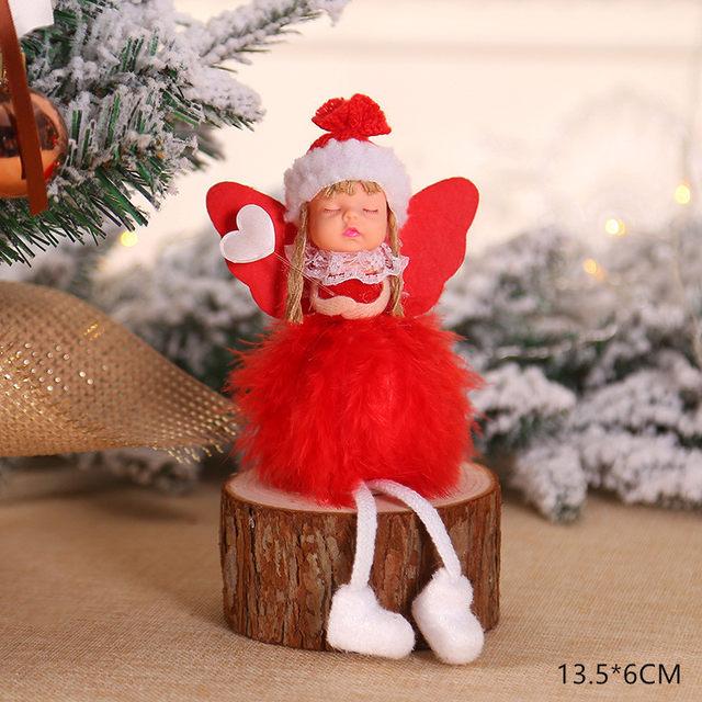 New Year 2020 Cute Santa Claus/Snowman/Angel Christmas Dolls Noel Christmas Tree Decoration for Home Xmas Navidad 2019 Kids Gift 174