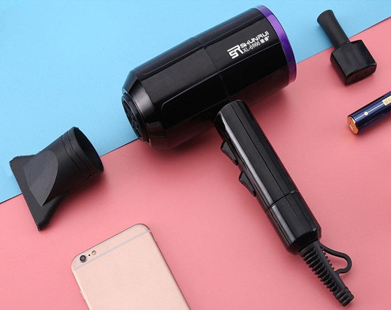 Profissional secador de cabelo elétrico com coleta