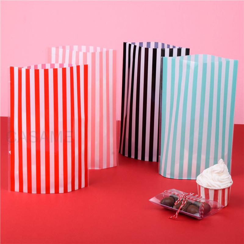 bows and ties for birthday cake cup Straw Bags 25pcs Polka Dot Pink package