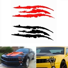 40cmX12cm Funny Car Sticker Reflective Monster Scratch Stripe Claw Marks Car Auto Headlight Decoration Vinyl Decal Car Stickers treyues 30cmx1 2m 12 x 48 auto car light headlight taillight tint vinyl film sticker easy stick whole car decoration clear