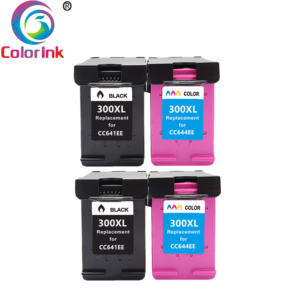 ColoInk  300XL Ink Cartridge Replacement For HP 300 XL HP300 Deskjet D1660 D2560 D5560 F2420 F2480 F4210 F2492 Printers