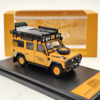 Master For L-R Defender 110 SUV Diecast Models Toys Car with Luggage Rack Collection Orange 1:64