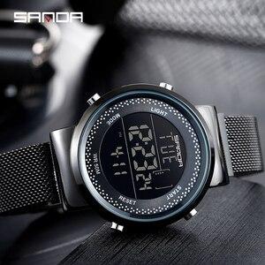 Image 4 - Relógio casal marca sinda 2019, relógio de pulso de aço da moda, com pulseira de malha de luxo, relógio de quartzo simples casual para casal