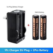 2 sztuk 3.7V 18650 bateria litowa 9900mAh bateria litowo-jonowa + USB ue usa ładowarka do zabawki latarka Led lekka latarka czołowa Laptop latarka