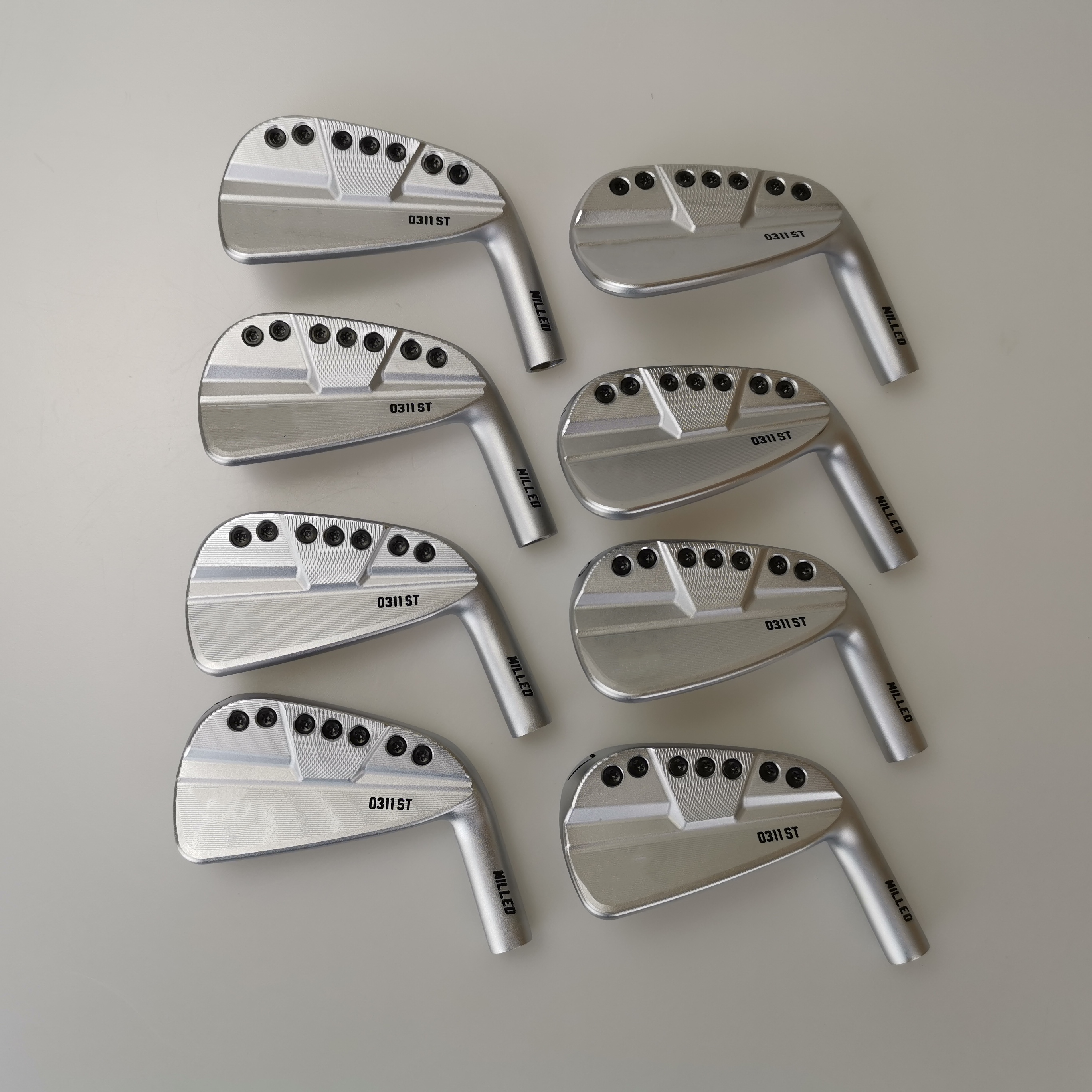 OEM 0311ST Golf Irons Set Sliver Golf Forged Iron 3-9W A Set Of 8 Pieces R / S Send Headcover Free Shiping