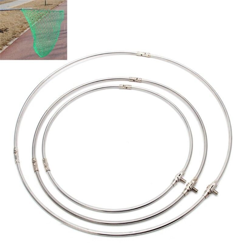 Рыболовная Складная сетка из нержавеющей стали с круглой головкой для рыболовных снастей Y4UB|Рыболовные снасти|   | АлиЭкспресс