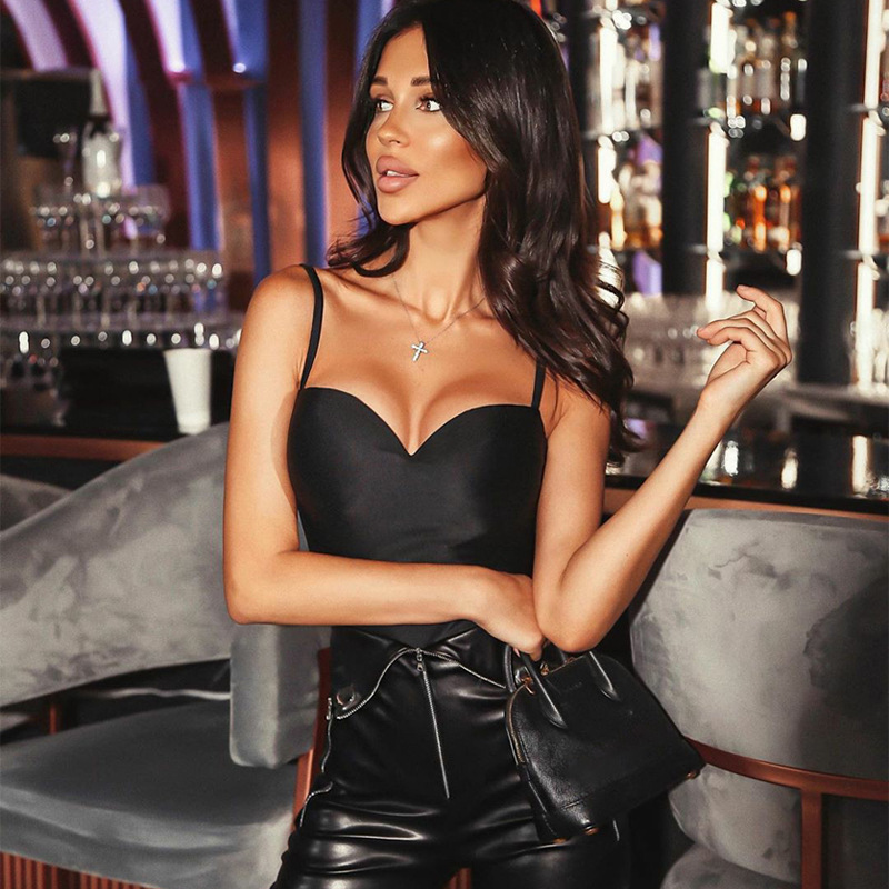 2020 new women solid color sexy bodysuit push up sleeveless bodycon body suit summer fashion streetwear outfits body
