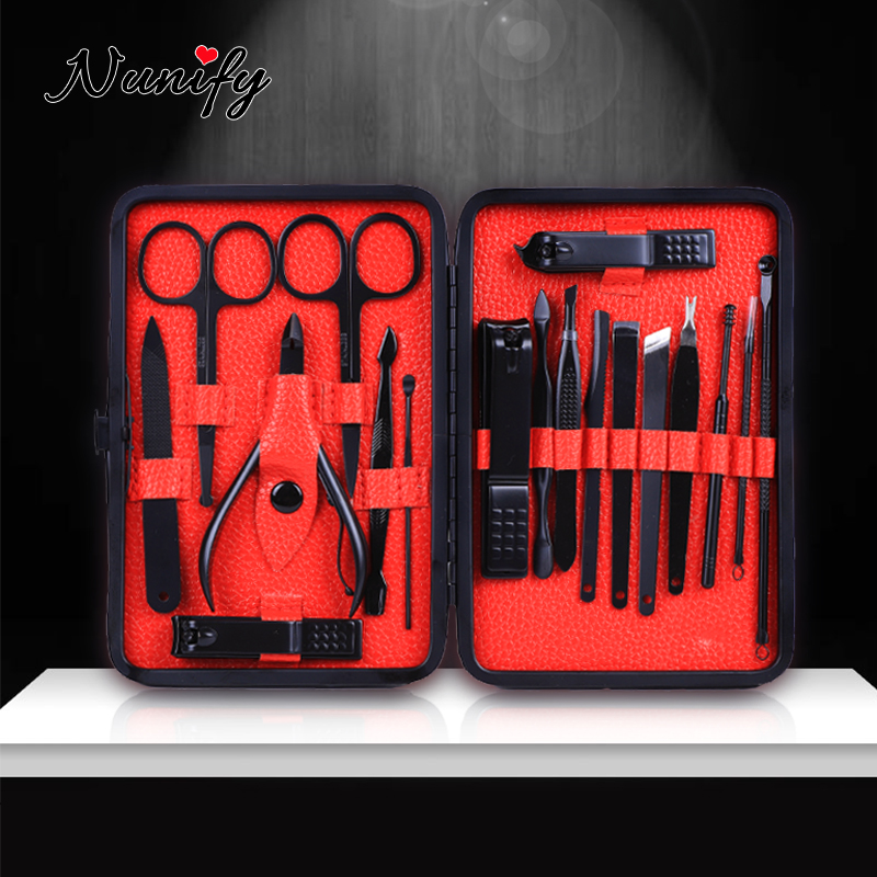 Nunify Black New Manicure Nail Clippers Pedicure Set Nail Cut Set Nail Cutters For Thick Nails Nail Cutter Tool Tip Knipper