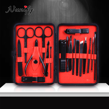 Pedicure-Set Nail-Clippers Black Nunify for Thick Tip New