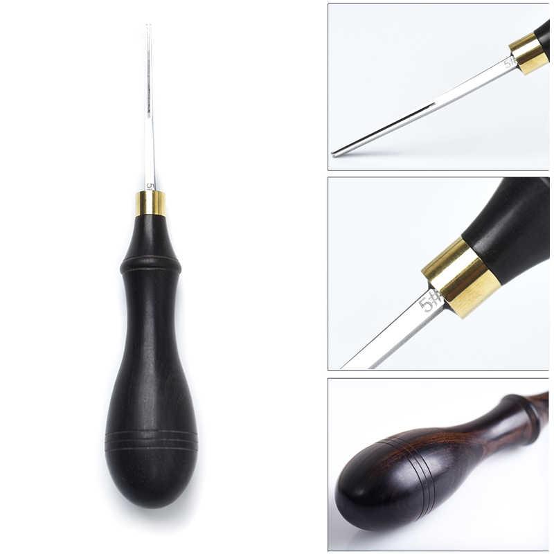 DIY кожевенное ремесло кромка скошенная деревянная ручка кромка режущая скошенная кожа инструменты для рукоделия SNO88
