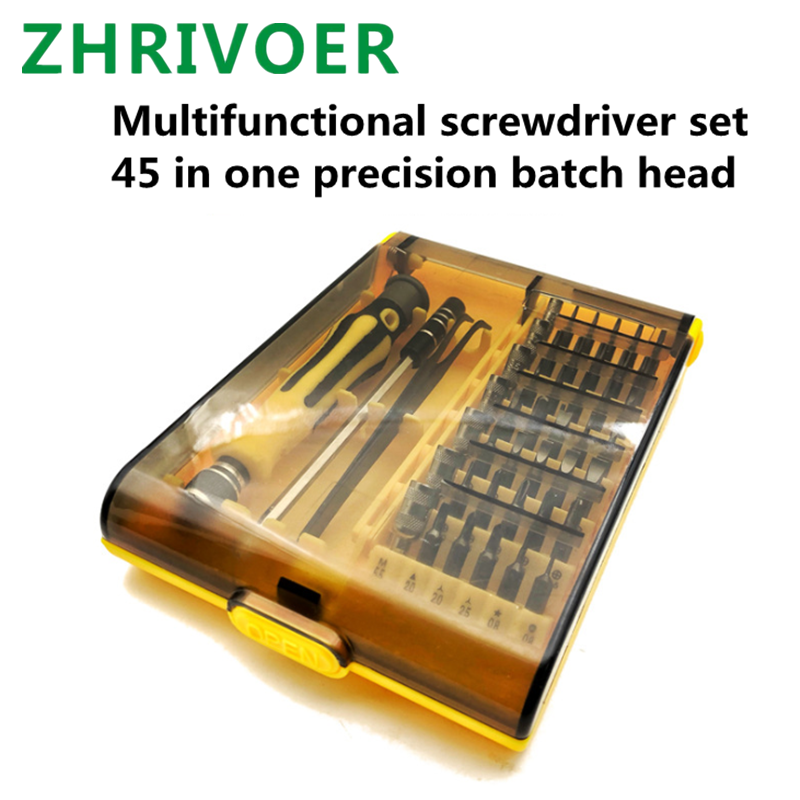 45 In One Screwdriver Tool Set IPhone Android Mobile Phone Computer Watch Glasses Multi-function Repair Combination