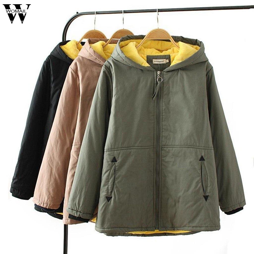 Womail   Jackets   Coat Women Autumn Warm Hooded   Jacket   Zipper Plush Coat Windbreaker Overcoat Outerwear   Basic     Jacket   Sportswear 927