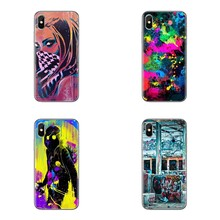 Silicone Phone Cover Bag For Samsung Galaxy S3 S4 S5 Mini S6 S7 Edge S8 S9 S10 Plus Note 3 4 5 8 9 Girl With Sunglasses Graffiti(China)