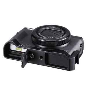 Image 4 - UURig C G7X  Vlog L Plate for Canon G7X Mark III Metal Vlogging Plate Mount with Cold Shoe for Microphone LED Light
