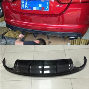 ABS/Carbon Fiber Rear Bumper Lip, Auto Car Diffuser Fits For Jaguar XF 2012 2013 2014 2015(China)