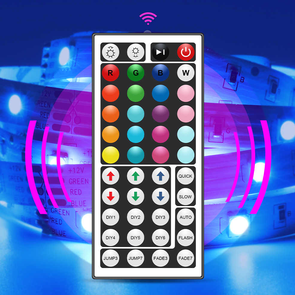 RGB LED Streifen Licht 5050 Flexible Band LED Licht Streifen DC12V 5M 10M 20M Fern Full Kit für Wohnzimmer/Schlafzimmer/Küche