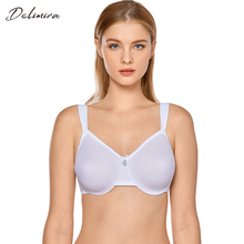 صدرية نسائية من Delimira بتصميم شفاف ومزودة بحجم كبير ومزودة بسلك سفلي للاستخدام اليومي