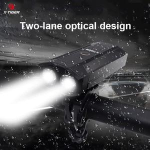 Image 3 - X TIGER אופני אור 1800 לום MTB כביש אופניים שפתוחה מנורת אופני אביזרי אטים לגשם USB נטענת LED אופני פנס