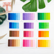 gradient Colors Inkpad clear stamps DIY Craft Ink Pad Rubber Stamps Fabric Wood Paper Scrapbooking & stamping Finger Paint decor