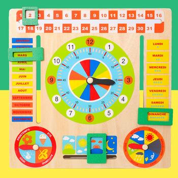 Dziecko drewniana płyta gra Montessori pogoda sezon poznawcze puzzle dziecko wczesne nauczanie edukacyjne figurki zabawki świąteczny prezent tanie i dobre opinie CN (pochodzenie) no eating 8 ~ 13 Lat 14 lat i więcej 2-4 lata 5-7 lat multifunctional wood calendar Zwierzęta i Natura