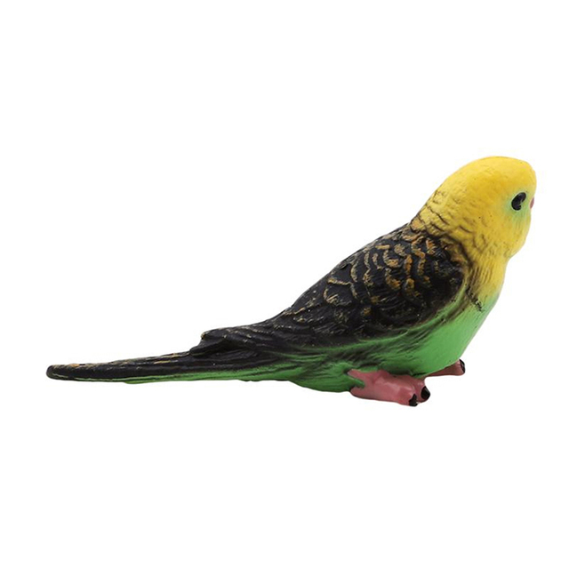 Plastic Bird Model Animal Wildlife Statue Simulation Parrot Exquisite Gift Vivid Figurine Artificial Home Decor 4