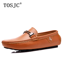 TOSJC 2019 Summer Male Casual Loafers Fashion Boat Shoes for Mens Lightweight Slip-on Flat Moccasins Handmade Driving