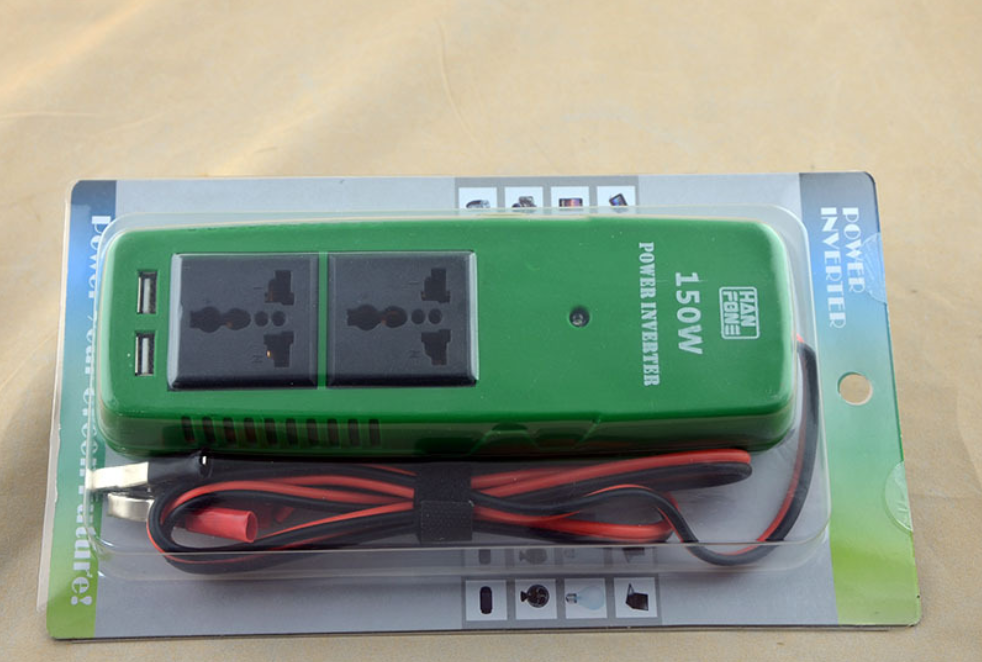 H17676ba444494c2dbdfaf79fcb1da3b6X - 150W DC to AC Car power modified sine wave inverter for laptops,Huwei,Iphone moiles