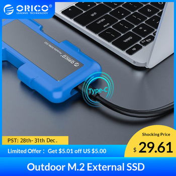 eaget m1 type c 128 256gb type c usb 3 1 external hard disk portable ssd m1 type c mobile solid state drive with data cable ORICO SSD External Hard Drive 128GB 256GB 512GB 1TB Portable SSD M.2 NVME NGFF SSD Solid State Drive with Type C USB 3.1